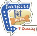 logo for barkers pet motel